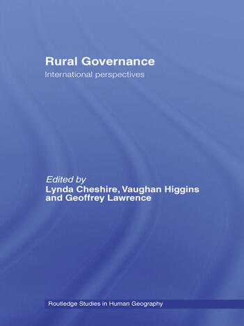 Rural Governance International Perspectives book cover