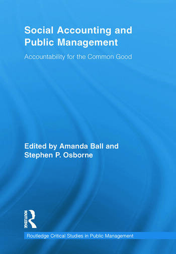 Social Accounting and Public Management Accountability for the Public Good book cover
