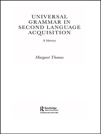 Universal Grammar in Second-Language Acquisition A History book cover