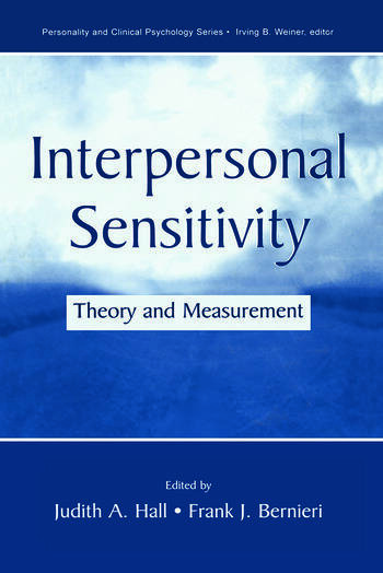 Interpersonal Sensitivity Theory and Measurement book cover
