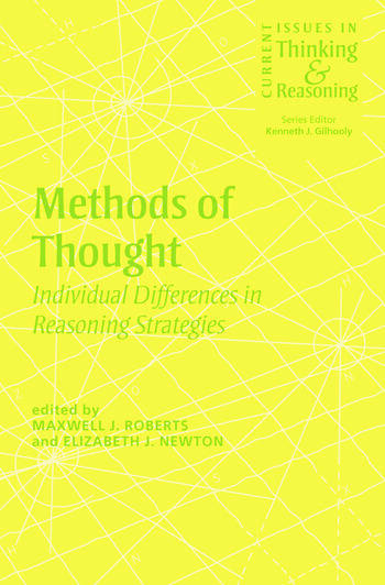 Methods of Thought Individual Differences in Reasoning Strategies book cover