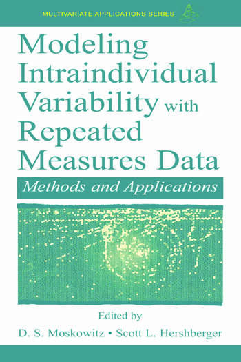 Modeling Intraindividual Variability With Repeated Measures Data Methods and Applications book cover