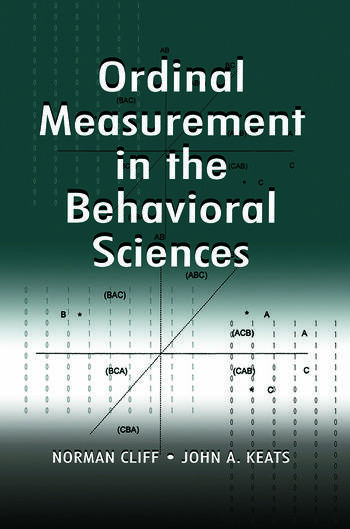 Ordinal Measurement in the Behavioral Sciences book cover