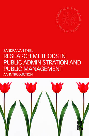 Research Methods in Public Administration and Public Management An Introduction book cover