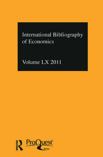 IBSS: Economics: 2011 Vol.60 International Bibliography of the Social Sciences book cover