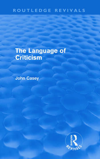The Language of Criticism book cover