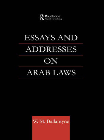 Essays and Addresses on Arab Laws book cover