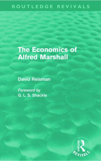 The Economics of Alfred Marshall (Routledge Revivals) book cover