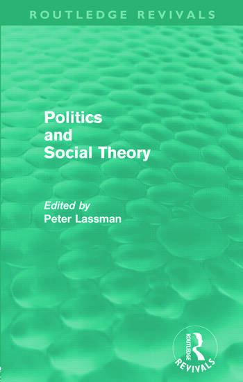 Politics and Social Theory (Routledge Revivals) book cover