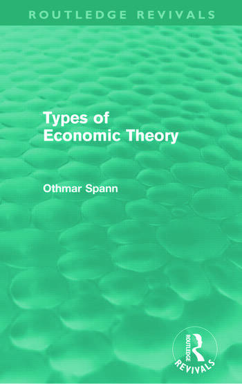Types of Economic Theory (Routledge Revivals) book cover
