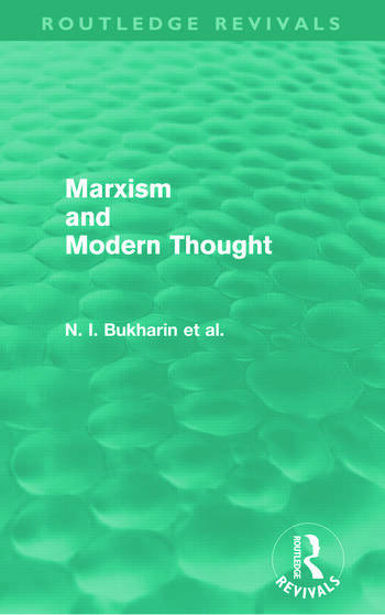 Marxism and Modern Thought (Routledge Revivals) book cover