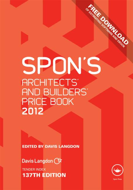 Spon's Architects' and Builders' Price Book 2012 book cover