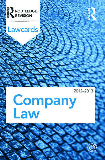 Company Lawcards 2012-2013 book cover