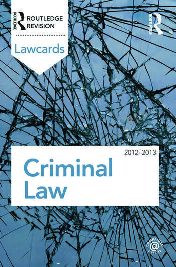 Criminal Lawcards 2012-2013 book cover