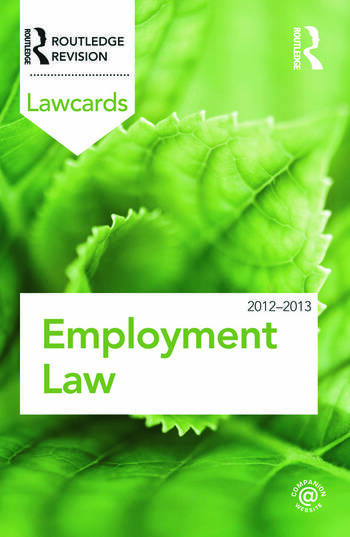 Employment Lawcards 2012-2013 book cover