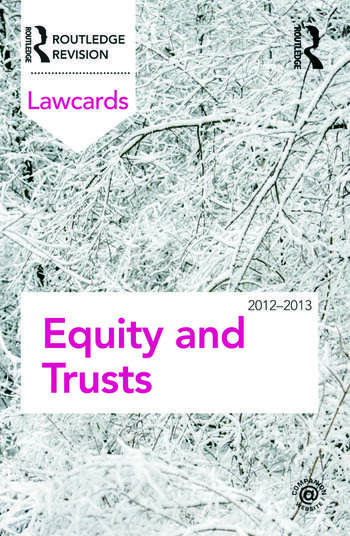 Equity and Trusts Lawcards 2012-2013 book cover
