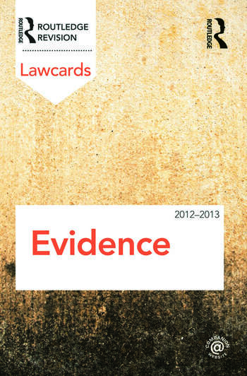 Evidence Lawcards 2012-2013 book cover