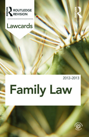 Family Lawcards 2012-2013 book cover