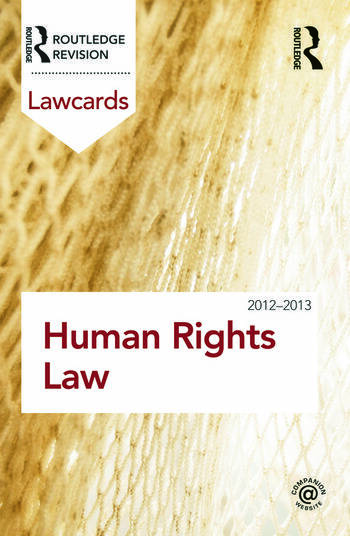 Human Rights Lawcards 2012-2013 book cover