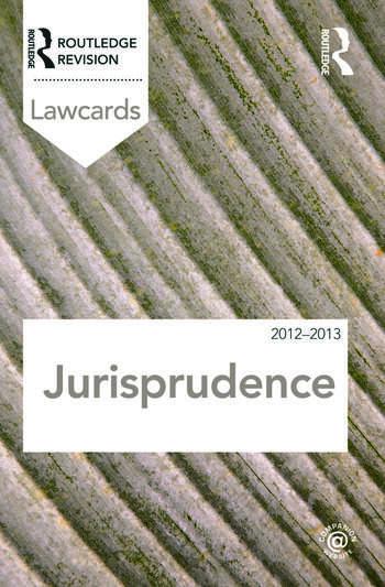 Jurisprudence Lawcards 2012-2013 book cover