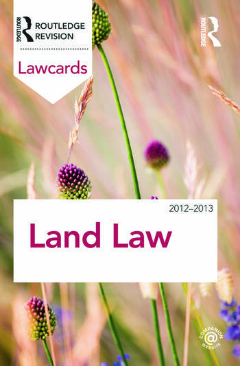 Land Law Lawcards 2012-2013 book cover