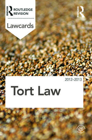 Tort Lawcards 2012-2013 book cover