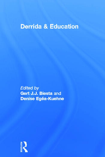 Derrida & Education book cover