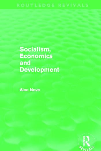 Socialism, Economics and Development (Routledge Revivals) book cover