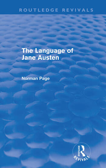 The Language of Jane Austen (Routledge Revivals) book cover