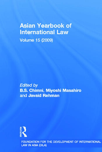 Asian Yearbook of International Law Volume 15 (2009) book cover