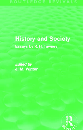 History and Society Essays by R.H. Tawney book cover