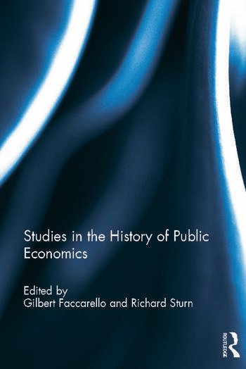 Studies in the History of Public Economics book cover