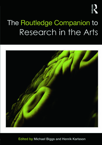 The Routledge Companion to Research in the Arts book cover