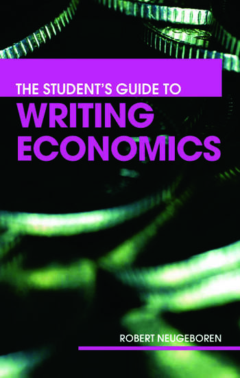 The Student's Guide to Writing Economics book cover