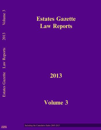 EGLR 2013 V3 book cover