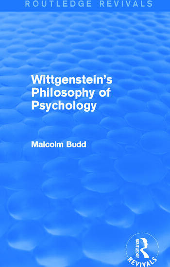 Wittgenstein's Philosophy of Psychology (Routledge Revivals) book cover
