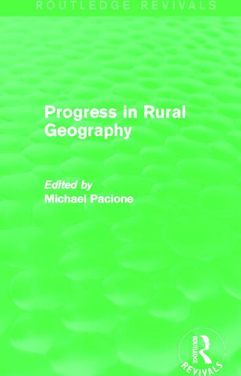 Progress in Rural Geography (Routledge Revivals) book cover