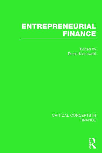 Entrepreneurial Finance book cover