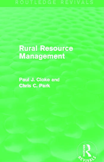 Rural Resource Management (Routledge Revivals) book cover