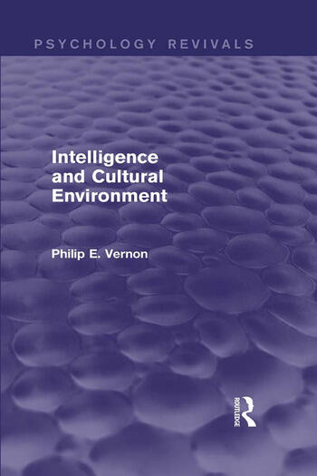 Intelligence and Cultural Environment book cover