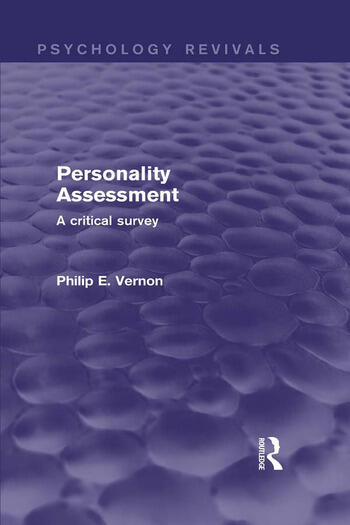 Personality Assessment A Critical Survey book cover
