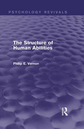 The Structure of Human Abilities book cover