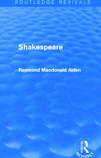 Shakespeare (Routledge Revivals) book cover