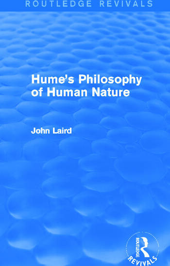 Hume's Philosophy of Human Nature (Routledge Revivals) book cover