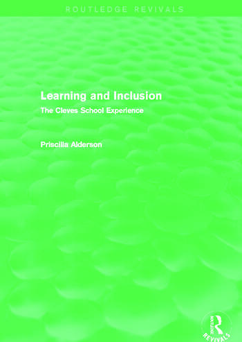 Learning and Inclusion (Routledge Revivals) The Cleves School Experience book cover