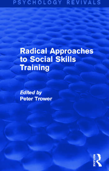Radical Approaches to Social Skills Training book cover