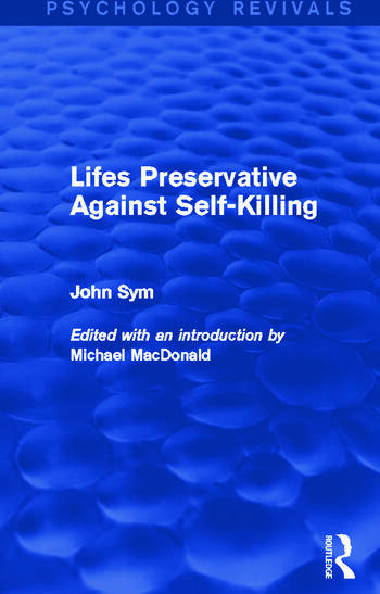 Lifes Preservative Against Self-Killing book cover