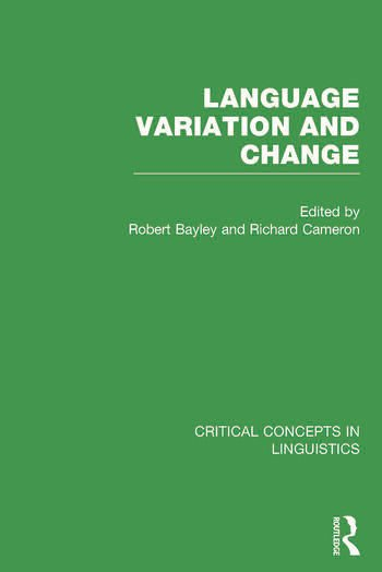 Language Variation and Change book cover