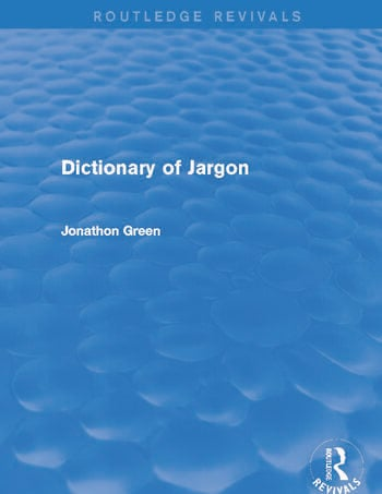 Dictionary of Jargon (Routledge Revivals) book cover