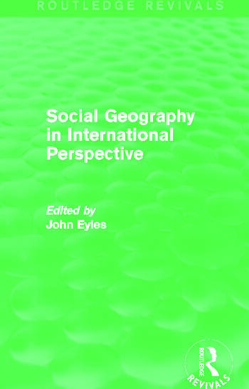 Social Geography (Routledge Revivals) An International Perspective book cover